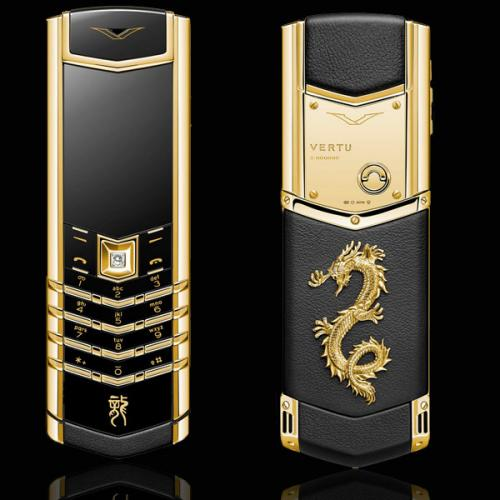 Vertu Signature Dragon Yellow Gold Diamond
