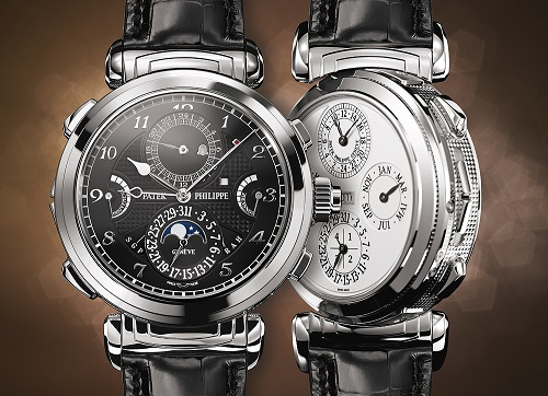 Đồng hồ Patek Philippe Grandmaster Chime Double-Faced White Gold 6300G-001